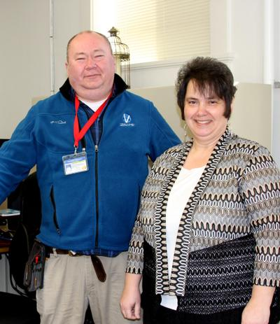 Matthew Penrod of Vanguard Appraisals and Sully County Director of  Equalization Leanne Loesch