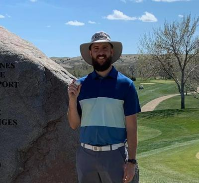 Joey Stahl hit a hole in one at Hills View Golf Course Friday.