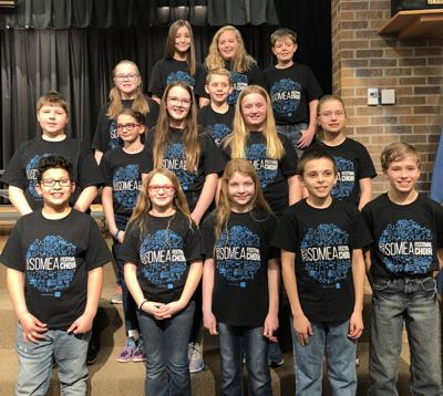 Students pictured representing ABO include: Front Row: Bradly Vasquez, Chloe Hilger, Alaina DeKry, Damian Garcia, Gavin Colson Row Two: Cooper Falkenhagen, Jane Yackley, Tomi White, Isabelle Kallhoff, Paige Jonas  Row Three: Tavery Smith, Wesley Wittler  Row Four: Madison Bradberry, Scotlynn Kinney, Landon Pullman (Not pictured due to illness is Bryson LaRosh)