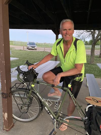 Cyclist Steve Sconce