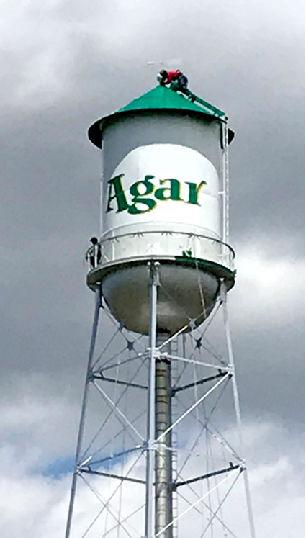 The newly repainted Agar skyline