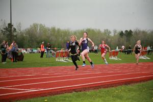 Courtnie Weinheimer placed first in the 100m dash with a time of 13.47.