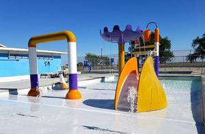 Guards ready splash park for pending opening