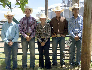 Rodeo team members Blaine Hill, Rafe Wientjes, Taylor Burgee, Sully Paxton, and Chase Yellowhawk will compete in the South Dakota High School Finals Rodeo this week.