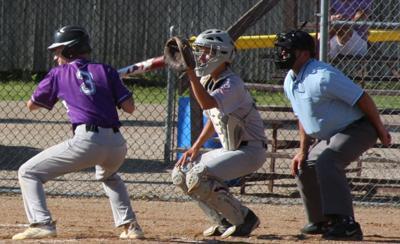 Zach Farries at bat.