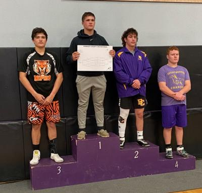 Senior Kash Weischedel placed fourth at the Stanley County wrestling invitational.