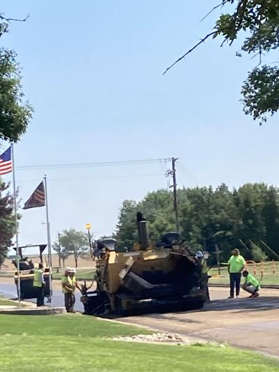 For the water and sewer infrastructure project, Onida streets were torn up. The final step for affected streets is the laying of an asphalt mat.