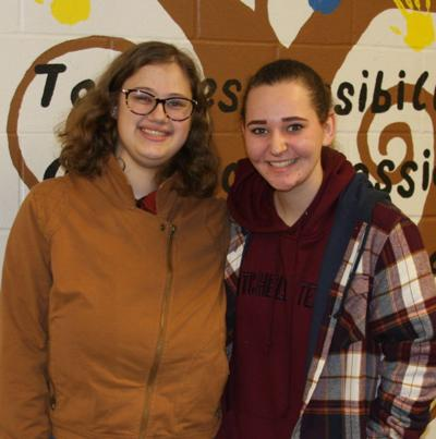 Seniors Kari-Anne Lyons and Aspen heath, along with Kenean Johnson, will perform in their final One-Act Play next week.