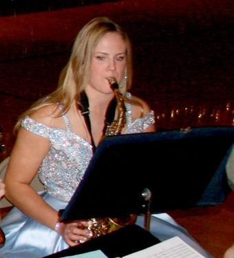 Angela Guthmiller received the John Phillip Sousa Band Award