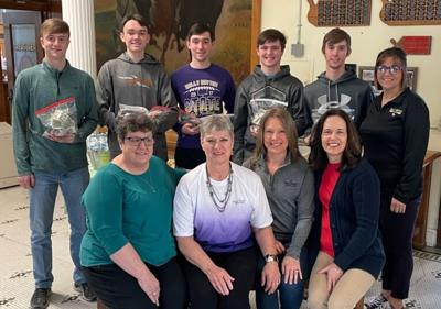 The Sully County Historical Society and other students made the announcement Tuesday morning about the winning class, as well as the total amount raised for the Dome Restoration project.