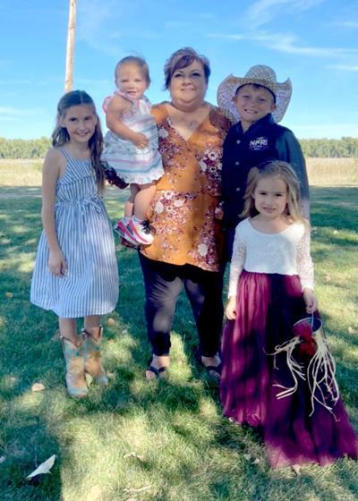 ABO head cook Vickie Heninger with her four grandchildren