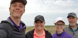 Nick Wittler, Lauren Wittler, Kara Huse, Sully Buttes Golf Coach Randy Pool
