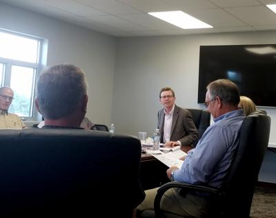 Congressman Dusty Johnson visited with the Ringneck Energy CEO Walt Wendland, the board of directors and investors in Onida Tuesday afternoon.