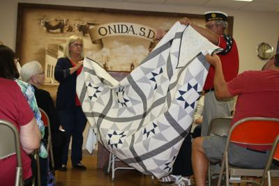 'Stars at Twilight' quilt to be raffled.