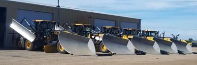 Five new motor graders arrived at the Sully County Highway Shop last week.