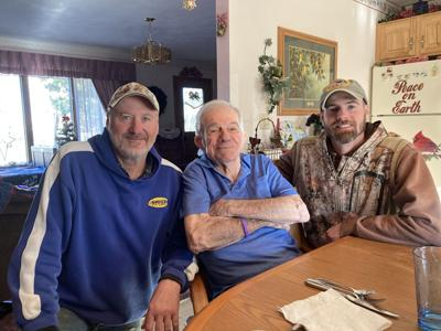 Jamie Nye, Butch DeSautell, and Colton Nye comprise the three generations who have operated the local lumberyard. since 1982