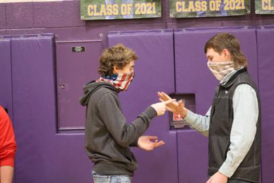 One of the many coinciding matches that took place during the beginning of the rock, paper, scissors tourney.