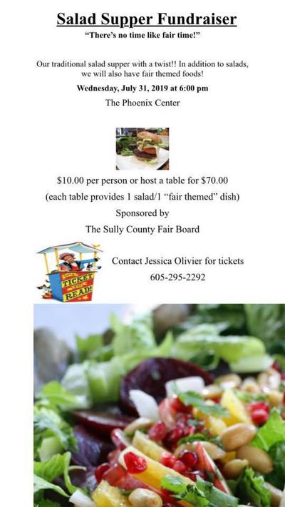 Salad supper is July 31st