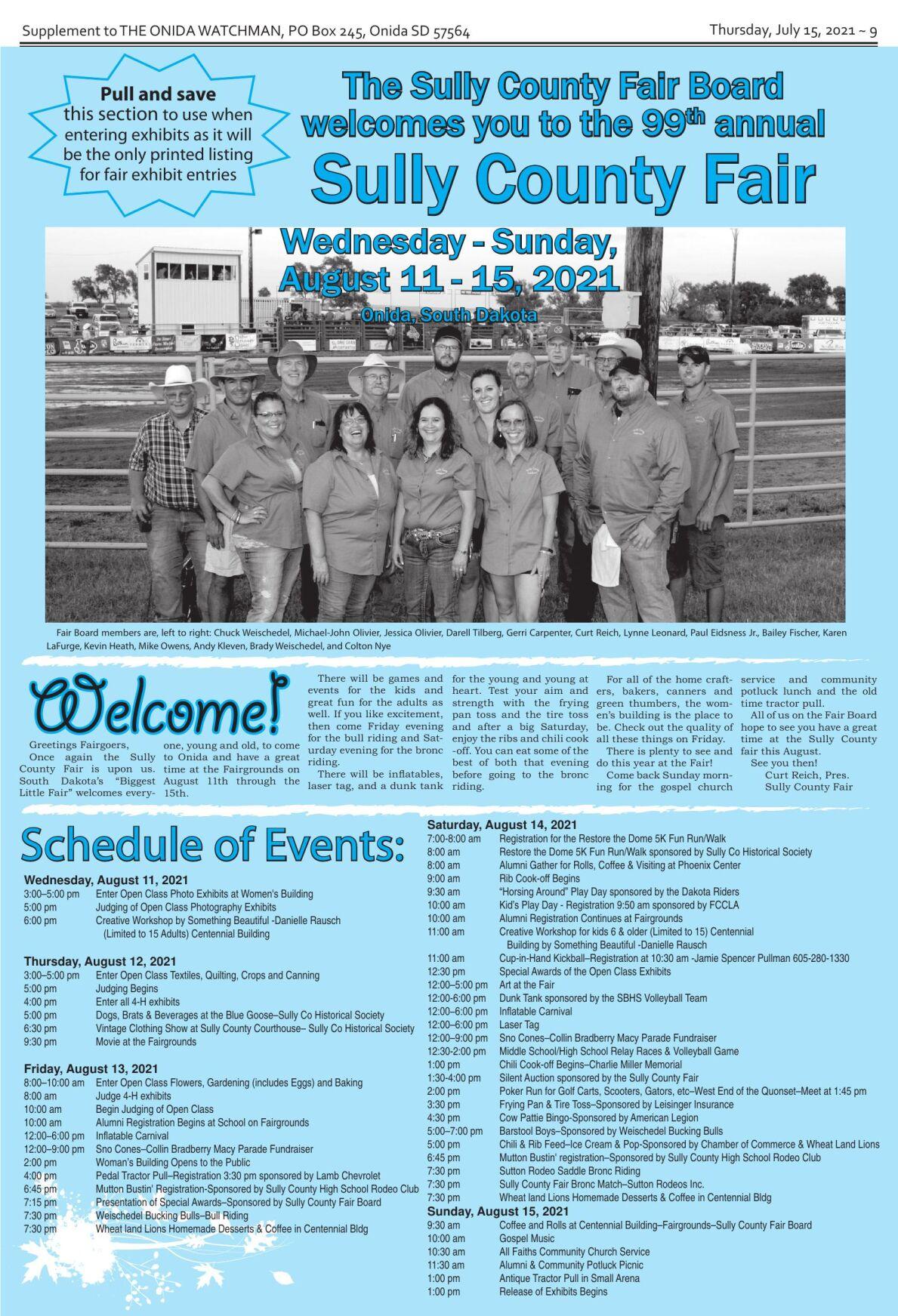 Sully County Fair insert