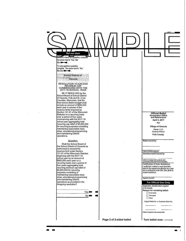 Osceola School District Referendum