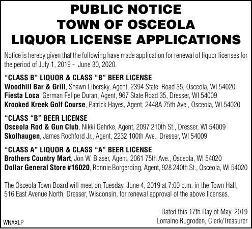 Liquor License Applications