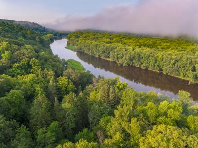 """St. Croix and Namekagon Rivers: The Enduring Gift."" 50th Ave landing aerial"