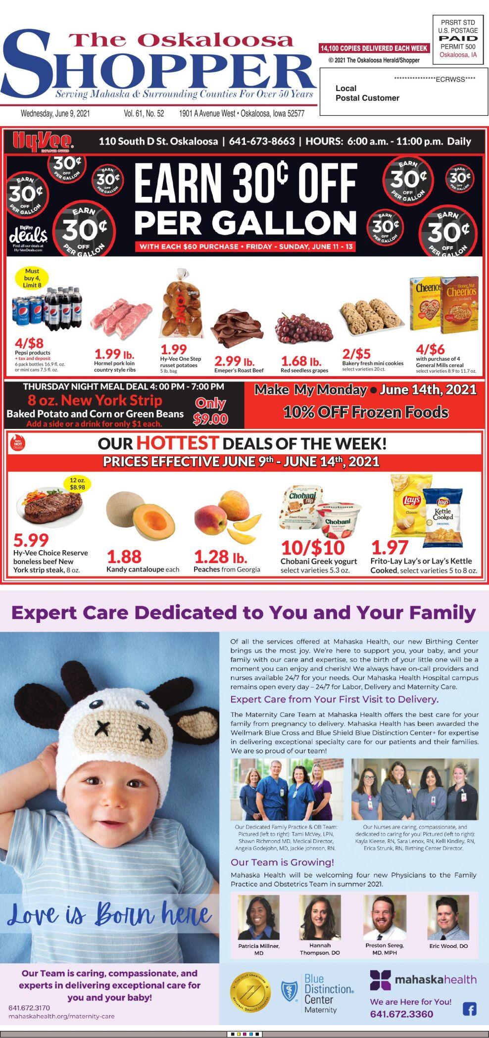 The Oskaloosa Shopper week of 06/09/21