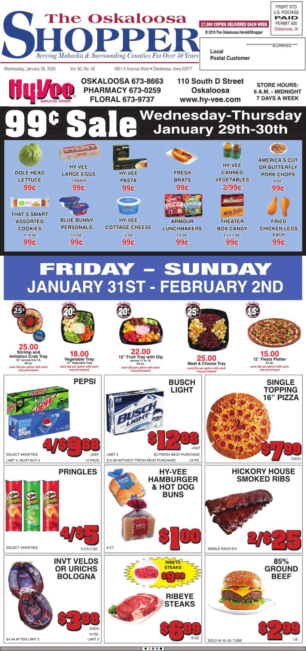 Oskaloosa Shopper week of 1/29/20