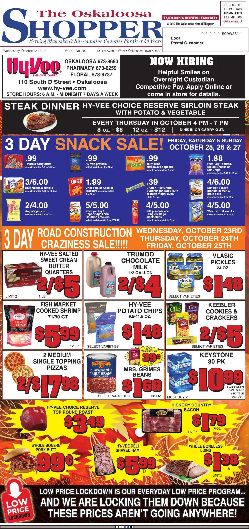 Oskaloosa Shopper week of 10/23/19