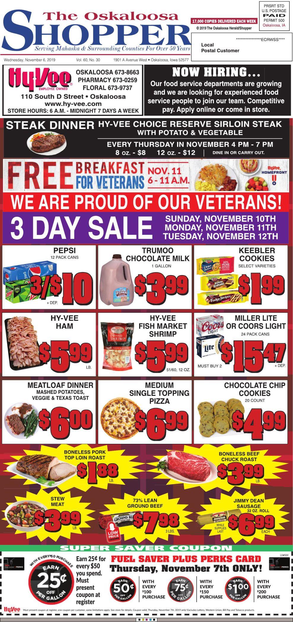 Oskaloosa Shopper week of 11/6/2019