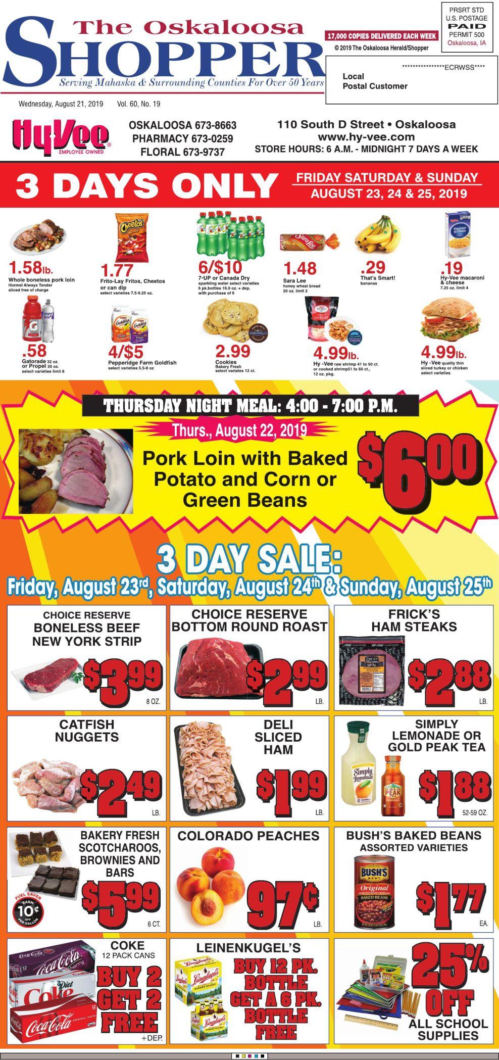Oskaloosa Shopper week of 8/21/19