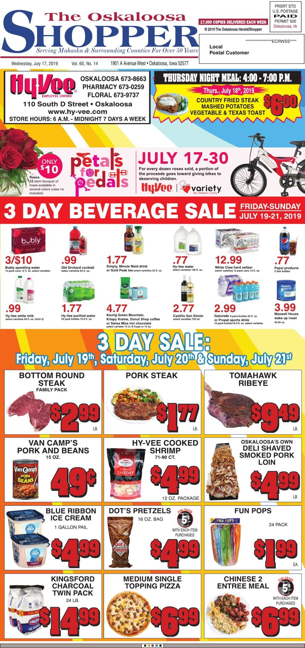 Oskaloosa Shopper week of 7/17/19
