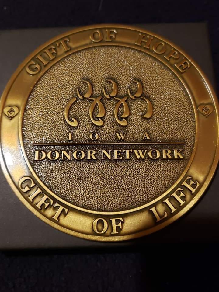 Medal for donation