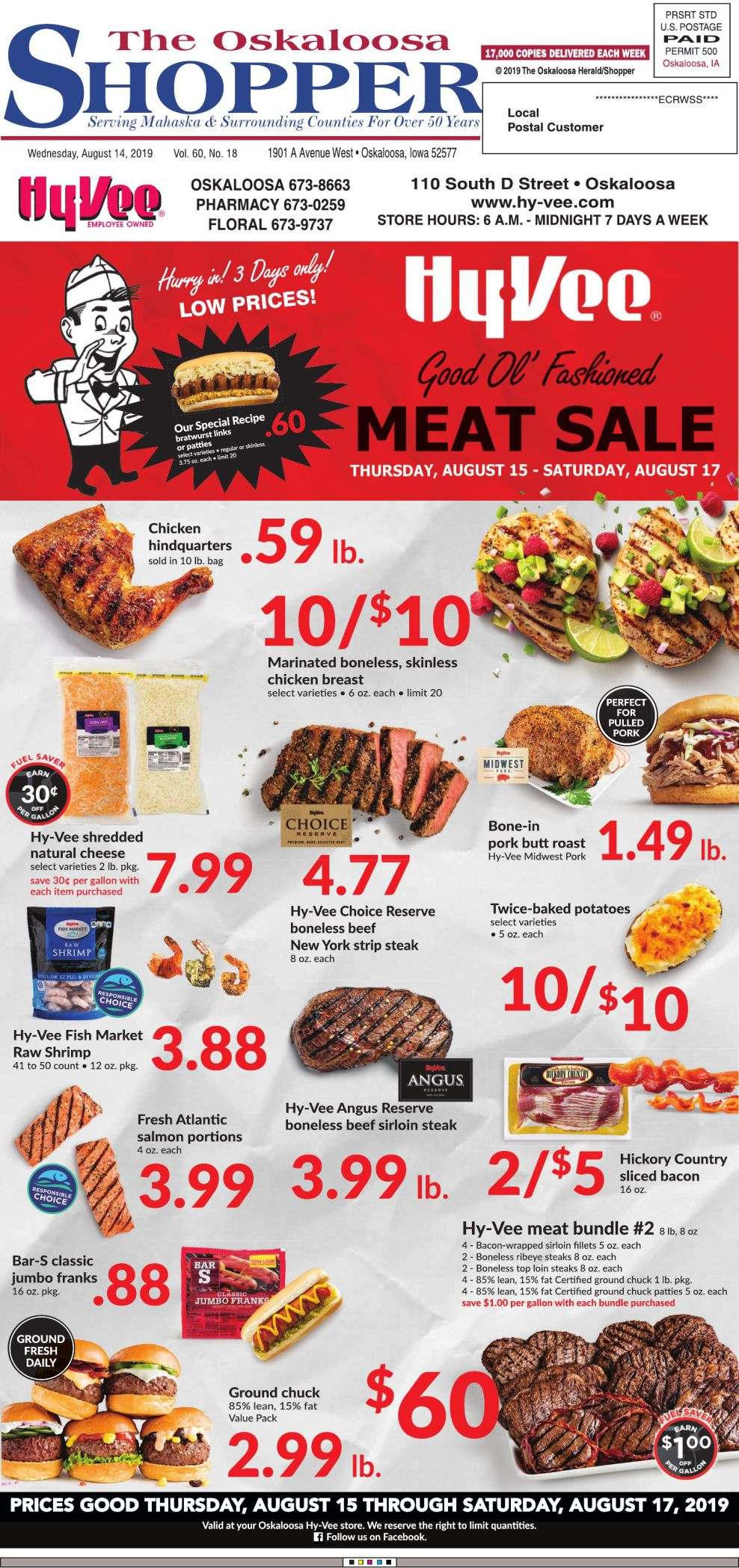 Oskaloosa Shopper week of 8/14/19