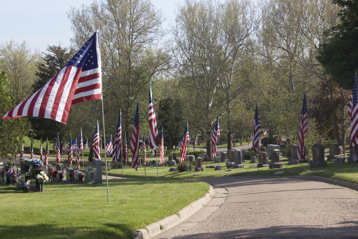 Avenue of Flags at Forests Cemetery