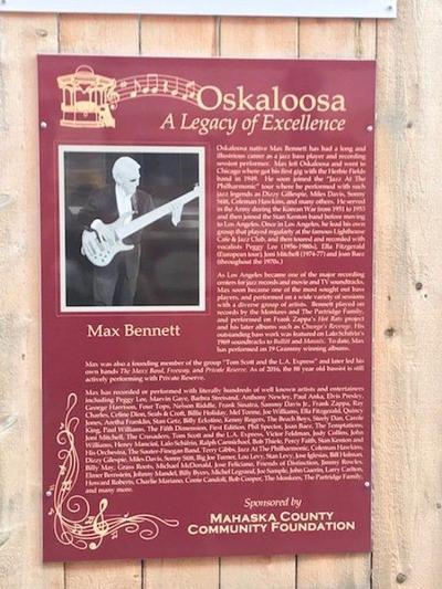 Oskaloosa musician Max Bennett dies