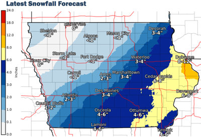 Weather service map