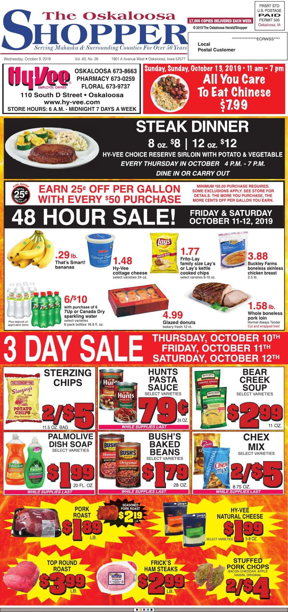 Oskaloosa Shopper week of 10/9/19