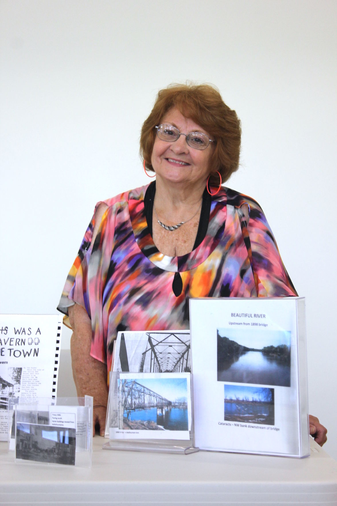 Linda Fox gives a presentation about Bellefountaine