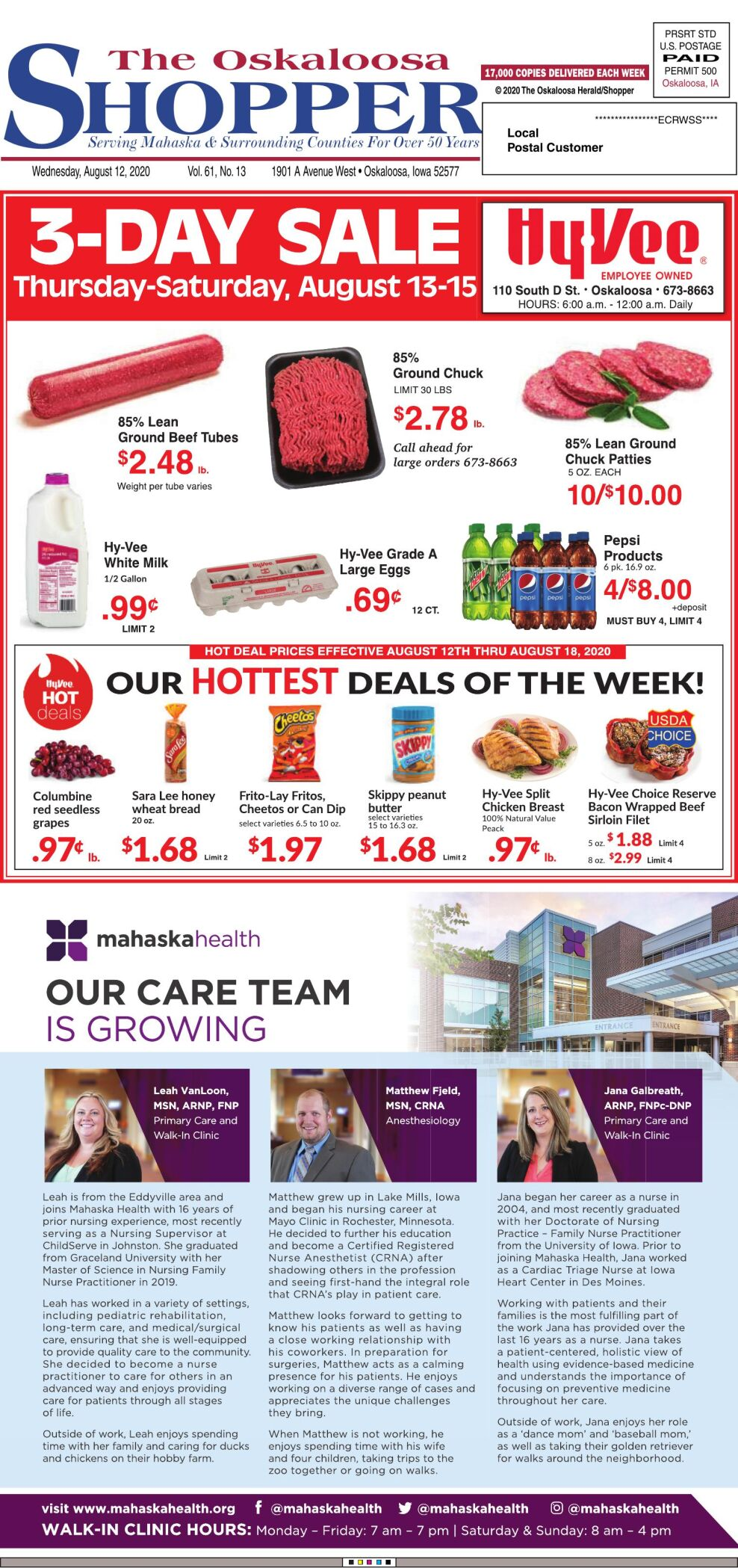 Oskaloosa Shopper week of 8/12/20