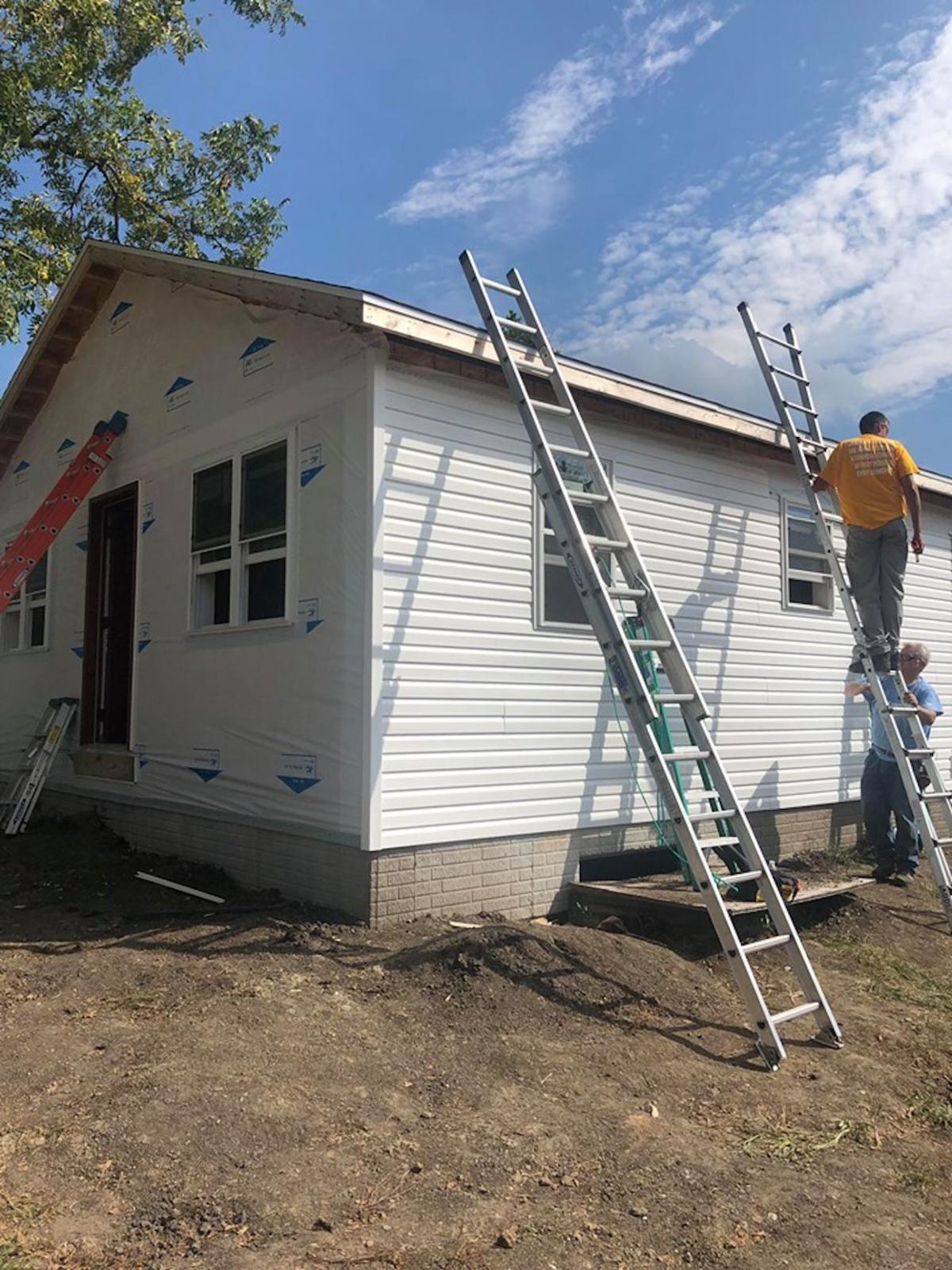 Habitat for Humanity volunteers work