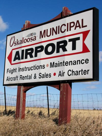 Osky Airport Sign File Photo
