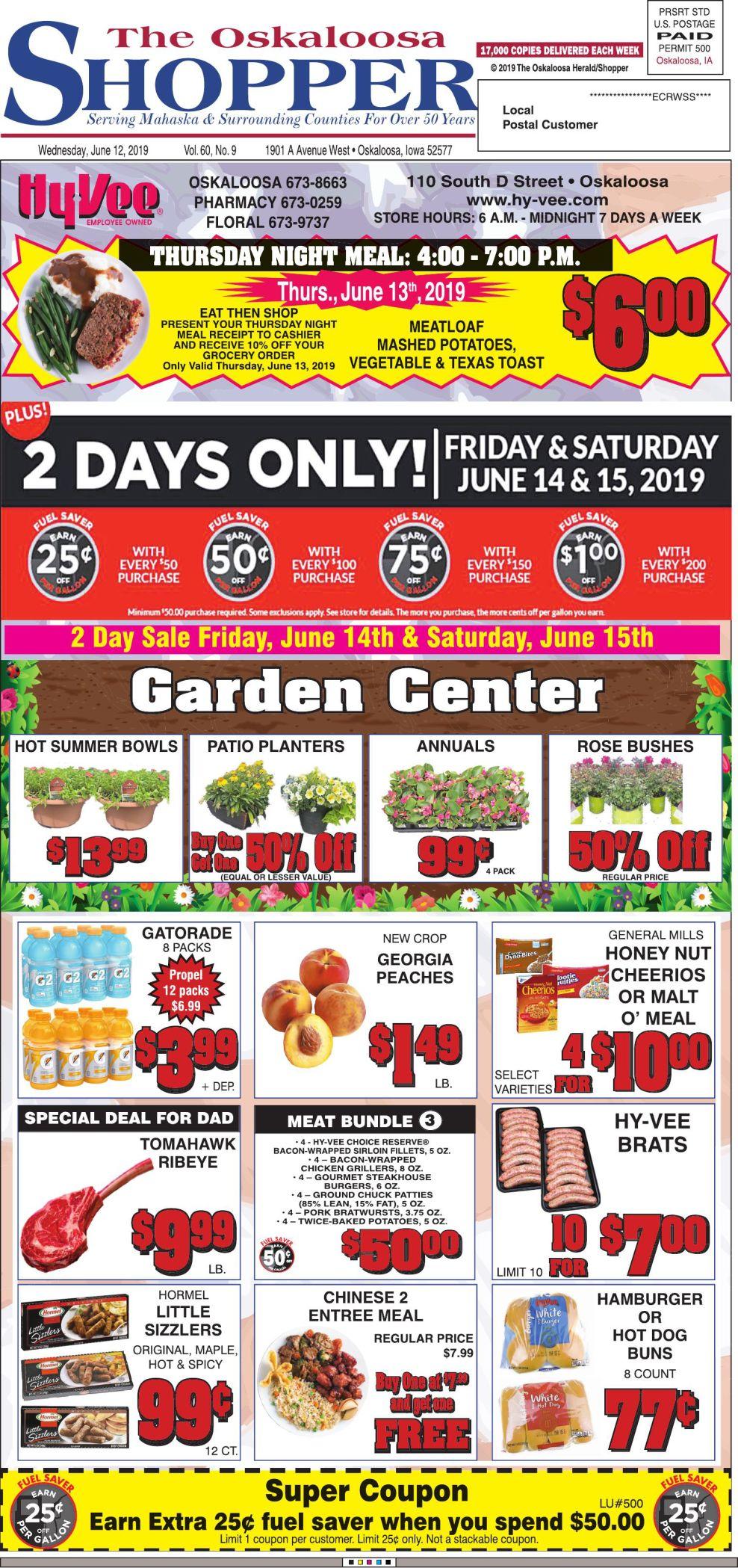 Oskaloosa Shopper week of 6/12/19