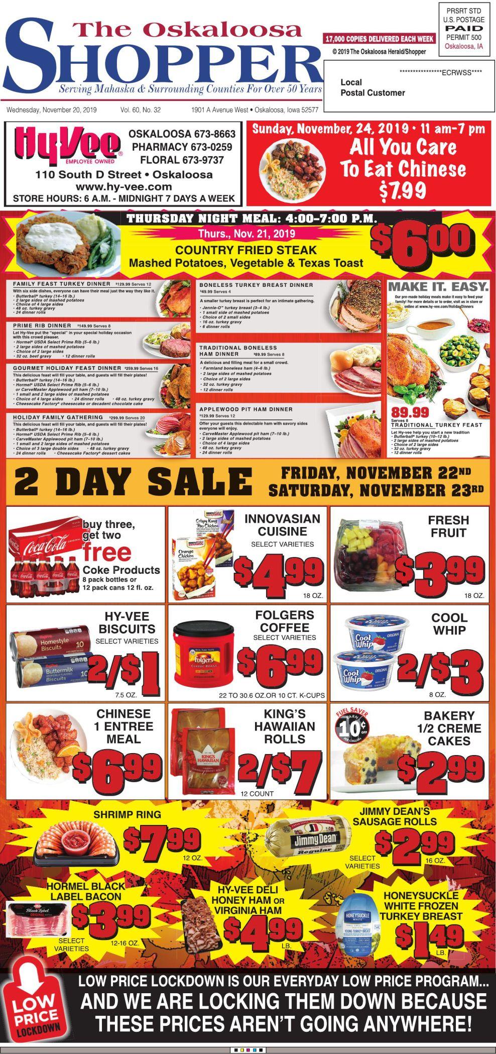 Oskaloosa Shopper week of 11/20/19