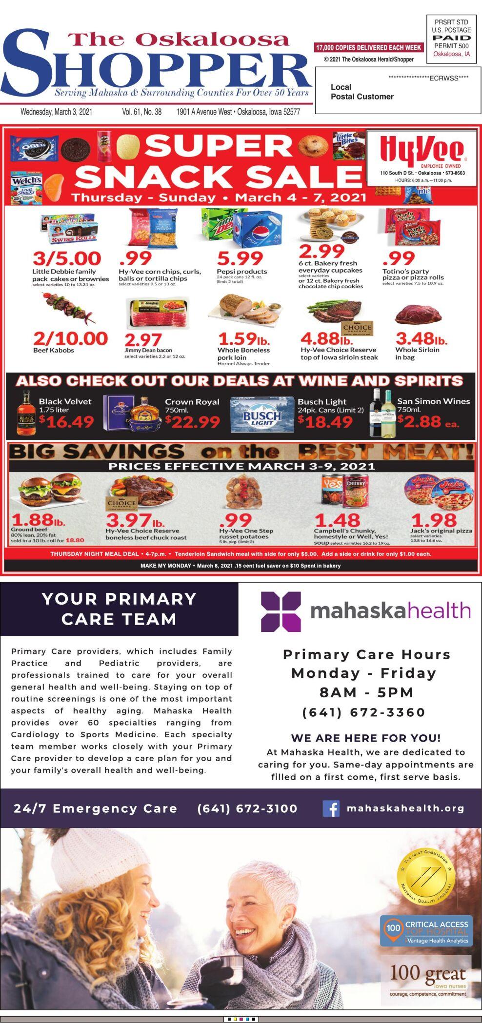 Oskaloosa Shopper week of 03/03/21