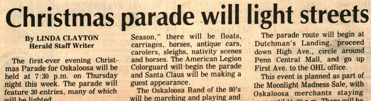 Preview article for the first Lighted Christmas Parade