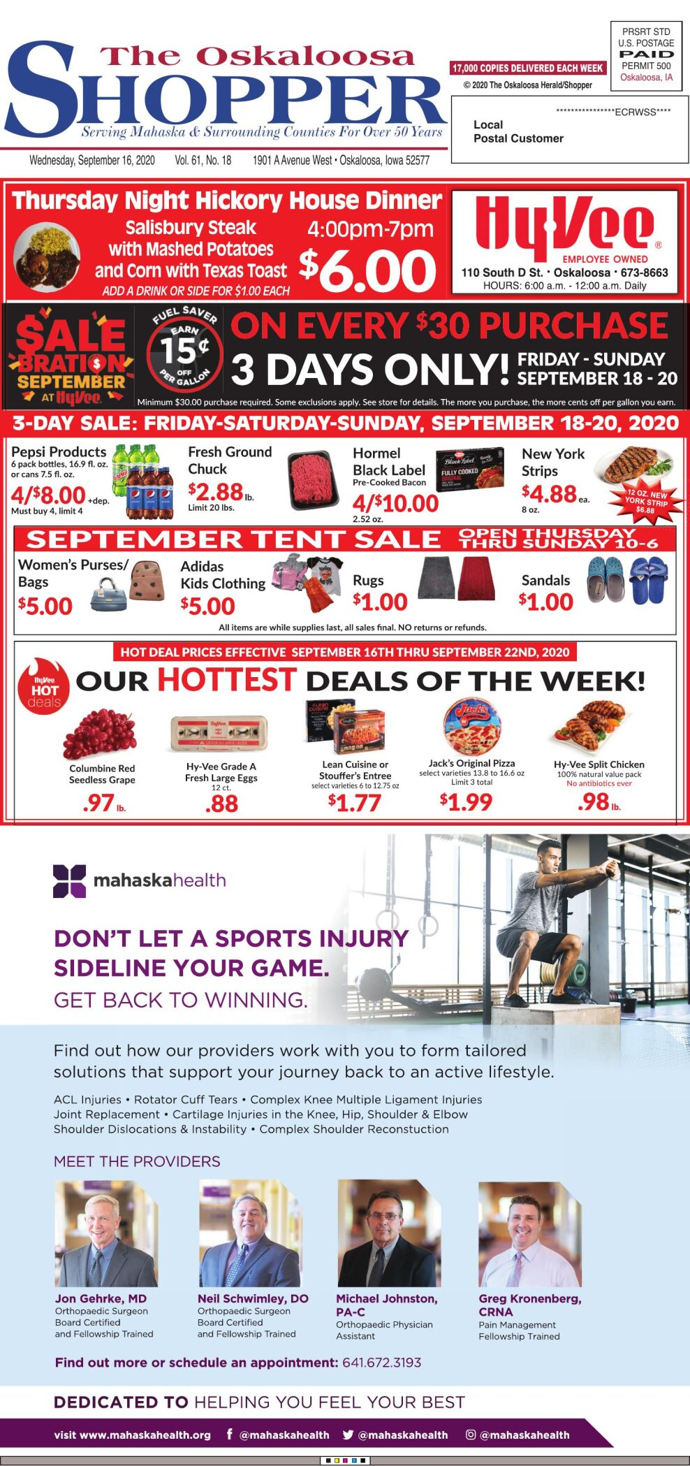 Oskaloosa Shopper week of 9/16/20