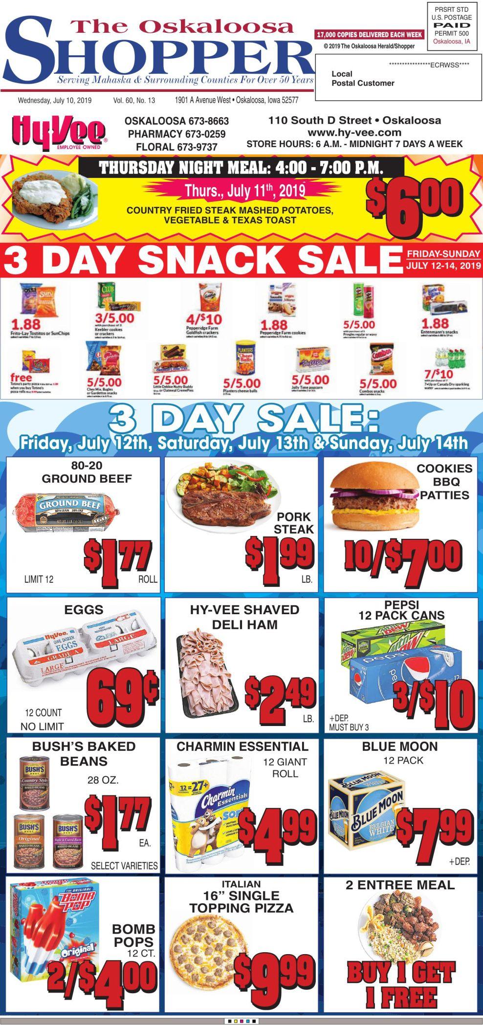 Oskaloosa Shopper week of 7/10/19