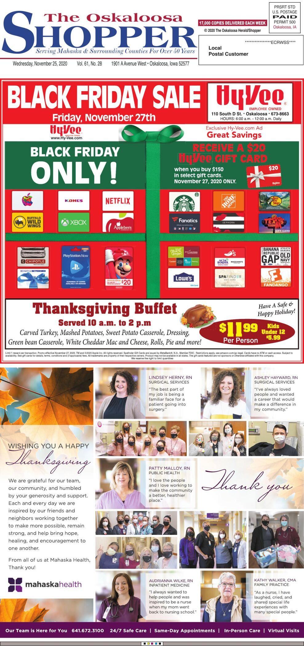 Oskaloosa Shopper week of 11/25/20