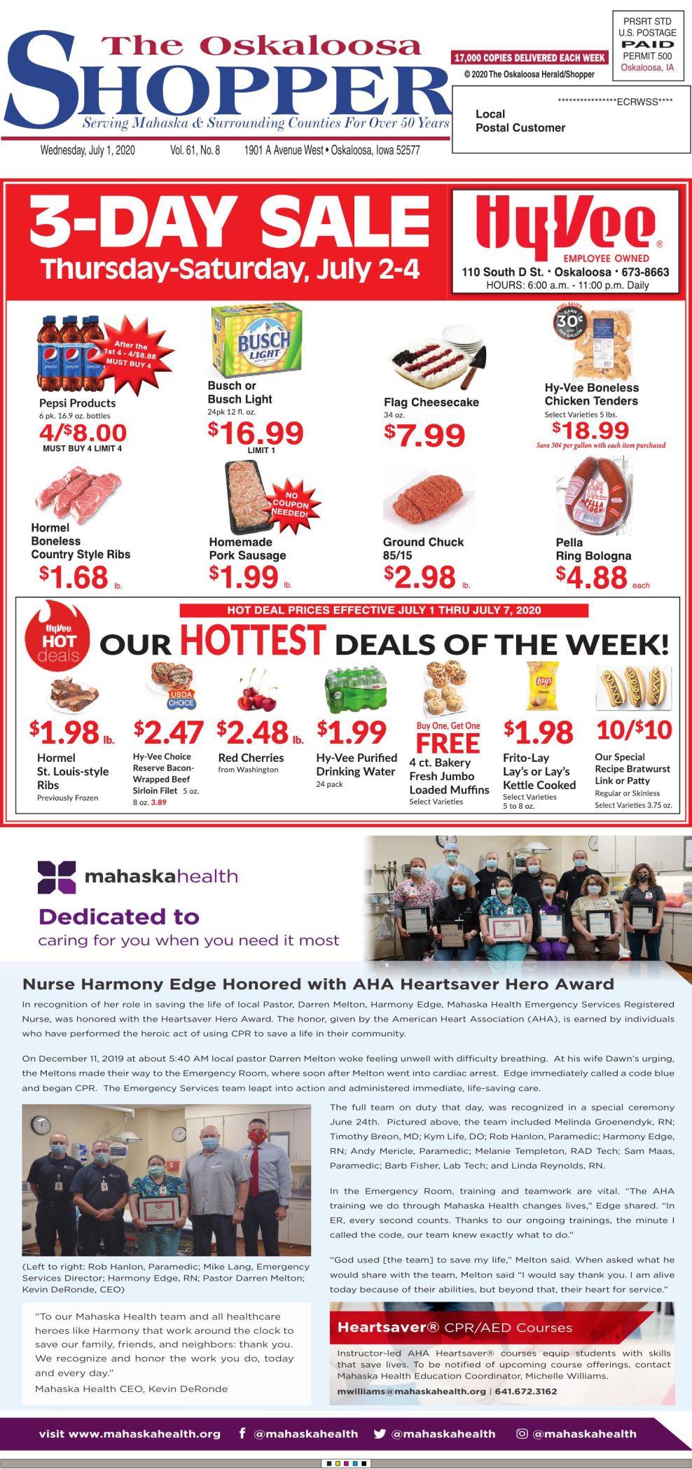 Oskaloosa Shopper week of 7-1-20